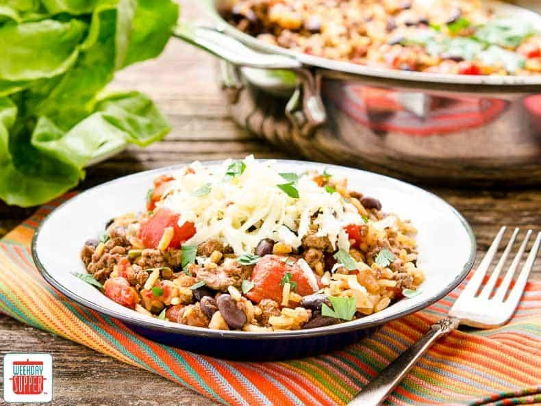Tex-Mex Beef Rice Skillet | Sunday Supper Movement | #WeekdaySupper