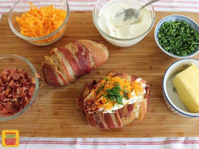 Pigskin Loaded Baked Potato #SundaySupper