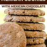 Peanut butter mexican chocolate cookies pin image