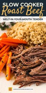 Slow cooker roast beef pin image