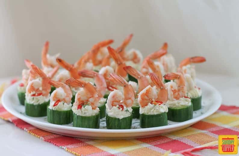 Cucumber Shrimp Cups #SundaySupper