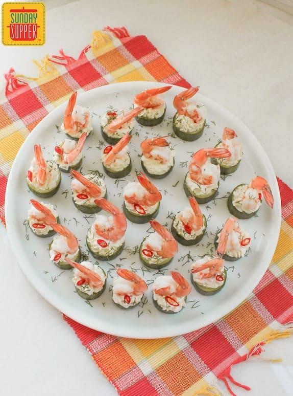 Cucumber Shrimp Cups #SundaySupper