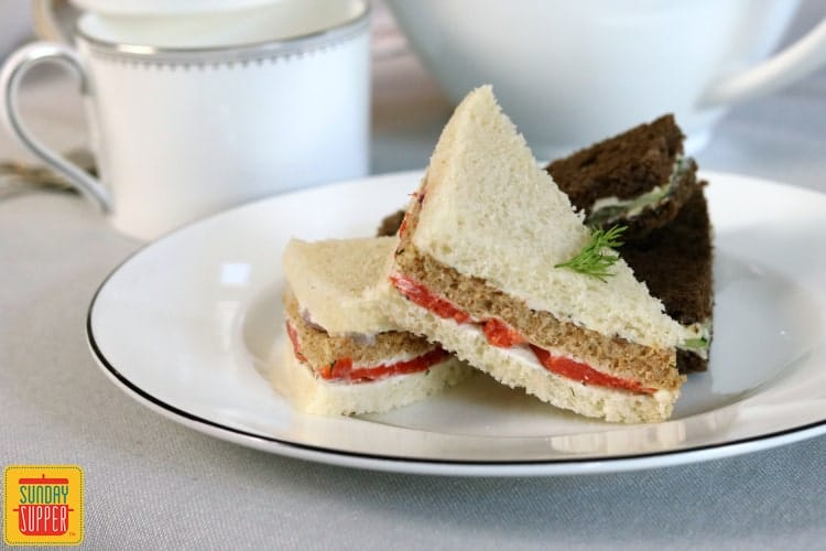 Best Smoked Salmon Tea Sandwiches plus Tea Party Tips