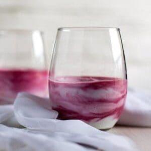 Balsamic Beet Puree Swirl Yogurt #SundaySupper