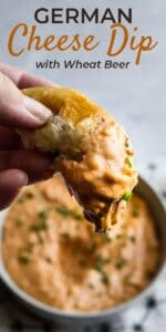 Save Beer Cheese Dip (Obatzda) on Pinterest to save for later!