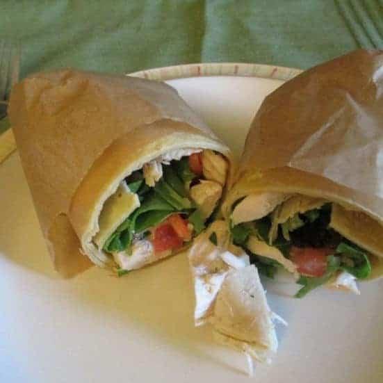 Gluten Free Balsamic Chicken Wrap #WeekdaySupper