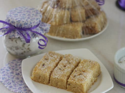 Lavender-Infused Sugar and Lazy Shortbread #SundaySupper