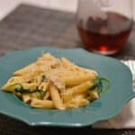 Cheesy Penne with Turkey and Spinach #WeekdaySupper