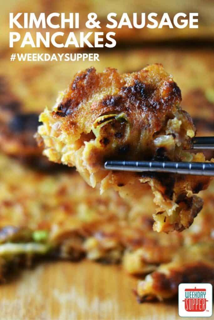 Kimchi and Sausage Pancakes #WeekdaySupper