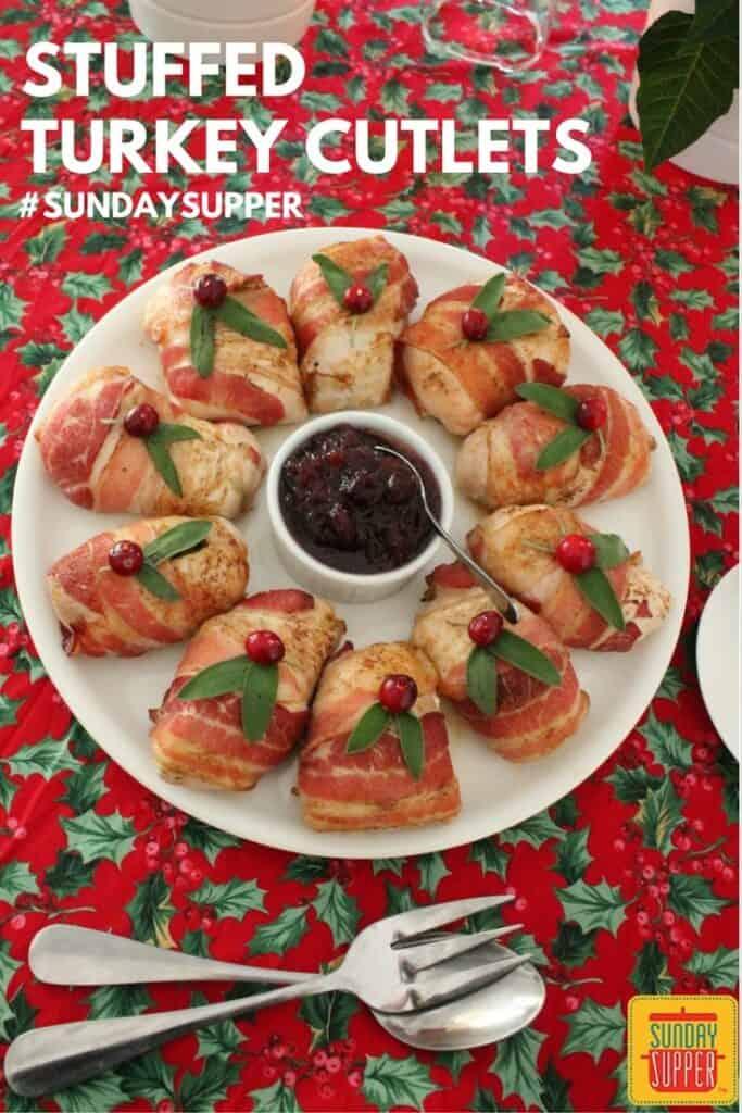 Stuffed Turkey Cutlets #SundaySupper