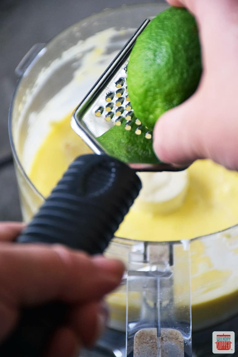 Key Lime Pie Squares zest of lime