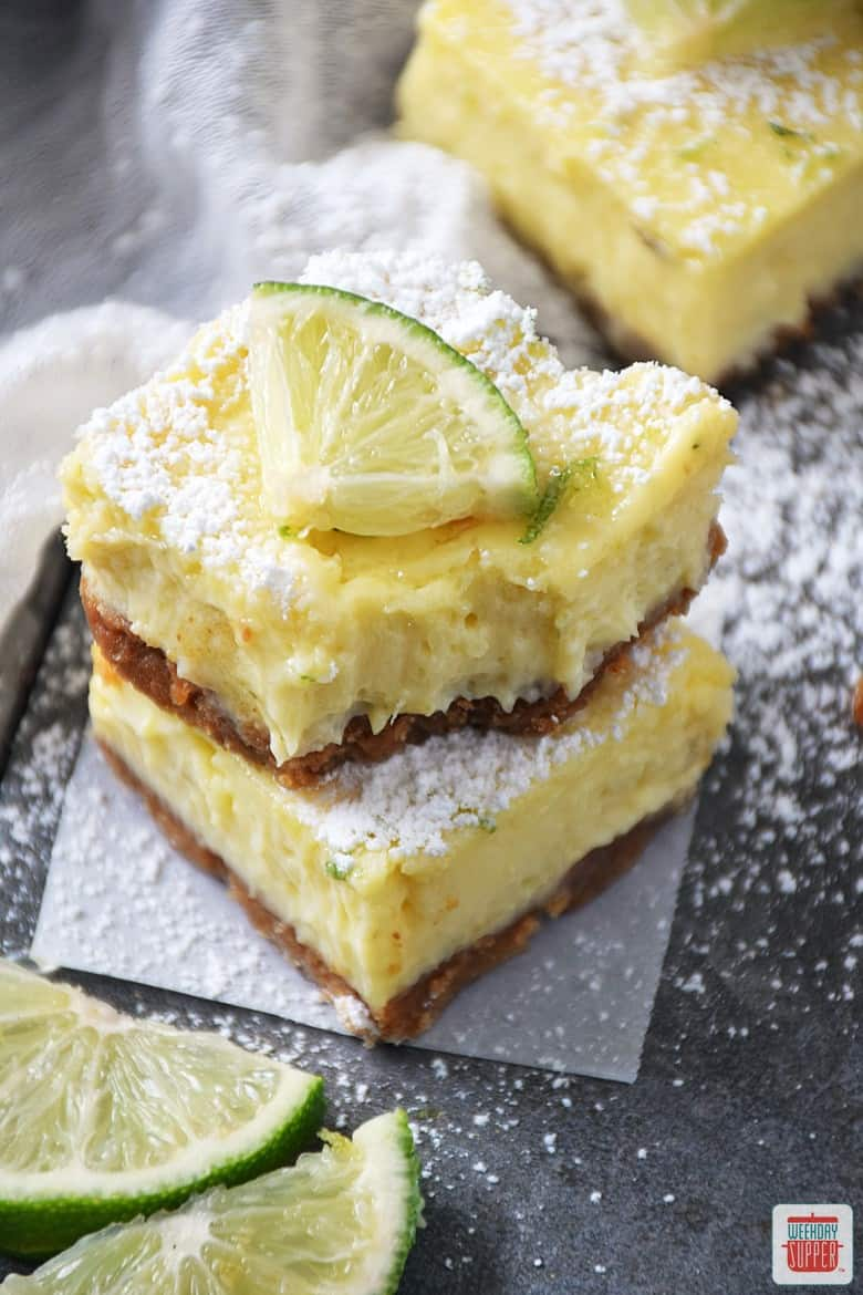 Key Lime Pie Squares #SundaySupper Sunday Supper Movement