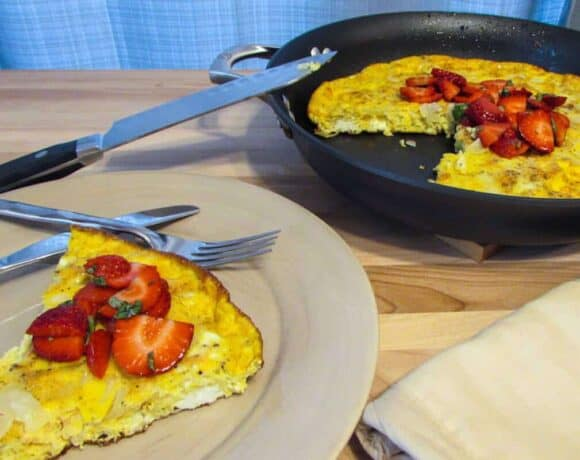 Gluten-free Balsamic Strawberry Frittata #WeekdaySupper #FLStrawberry