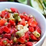 Strawberry Avocado Salsa #WeekdaySupper #FLStrawberry