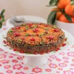 Sunday Supper Recipes: Clementine Pistachio Pomegranate Upside Down Cake #SundaySupper