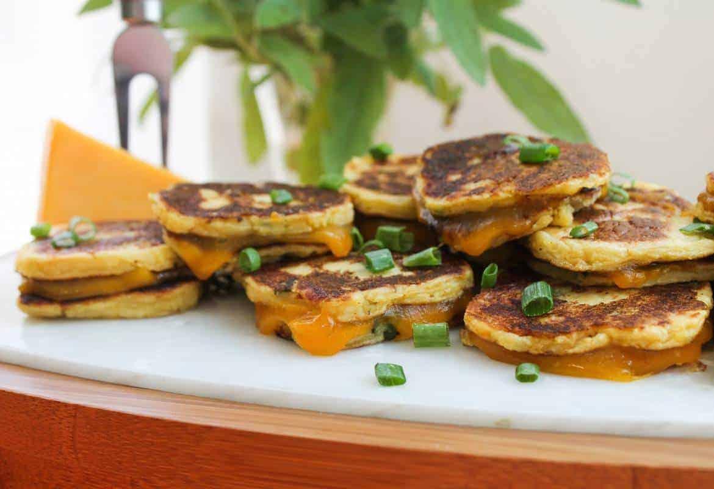 Sunday Supper recipes: Potato Patty Grilled Cheese Bites #SundaySupper