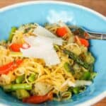 Roasted Spaghetti Squash with Pesto #WeekdaySupper