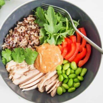 Thai Style Chicken Buddha Bowl #SundaySupper