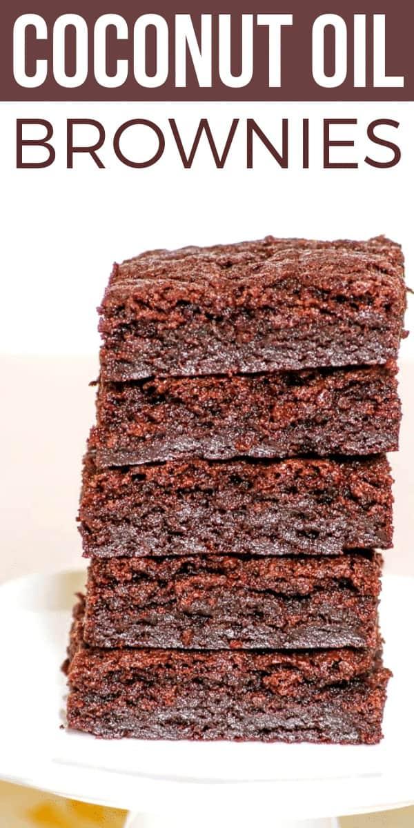 Coconut oil brownies on Pinterest