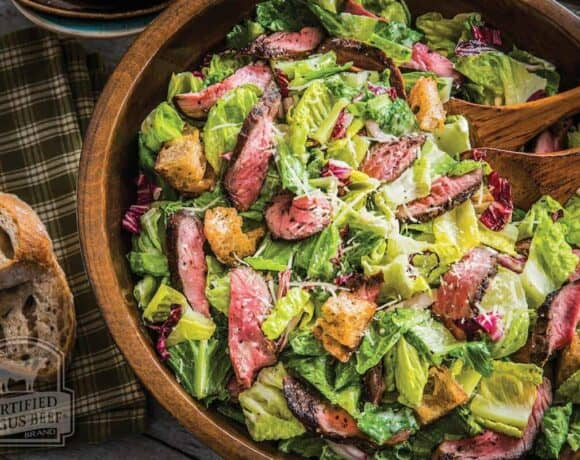 Grilled Steak Caesar Salad #SundaySupper #BestBeef