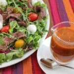 Roasted Tomato Vinaigrette Beef Salad #SundaySupper