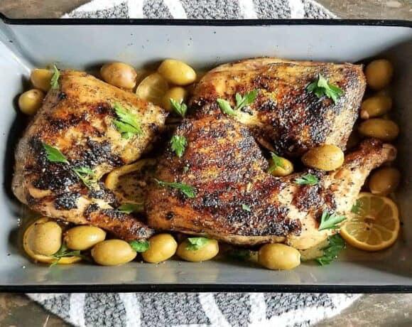 Green Olive Chicken #SundaySupper