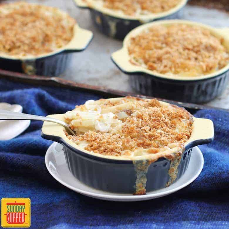 Swedish Creamy Potato Casserole (Jansson's Frestelse) #SundaySupper