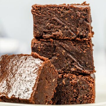 Four coconut oil brownies