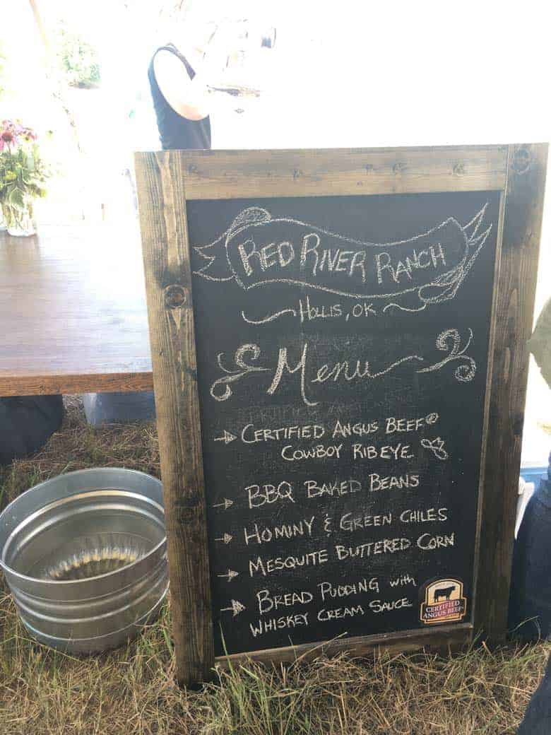 Red River Ranch menu, Kansas.