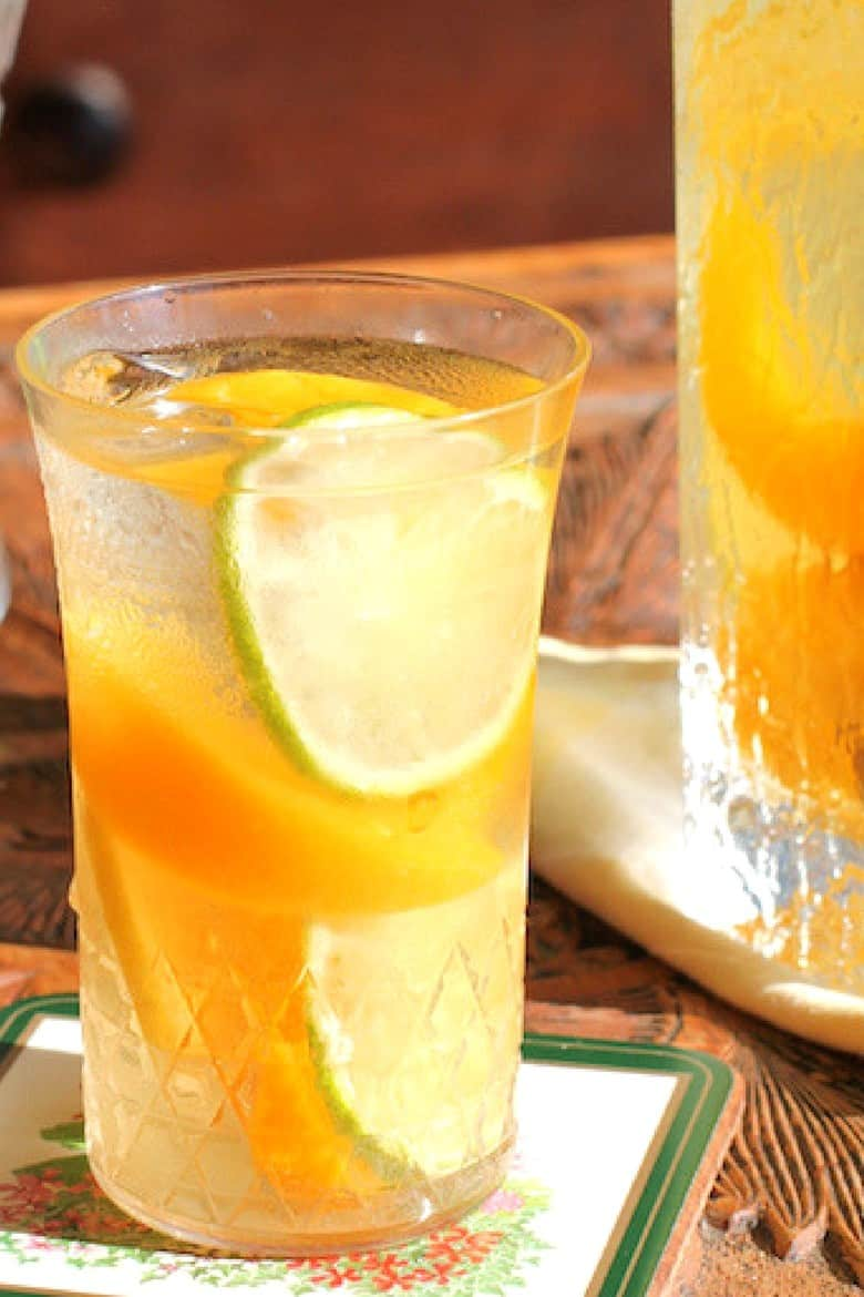 Simple Mixed Drinks - Citrus Peach Sangria