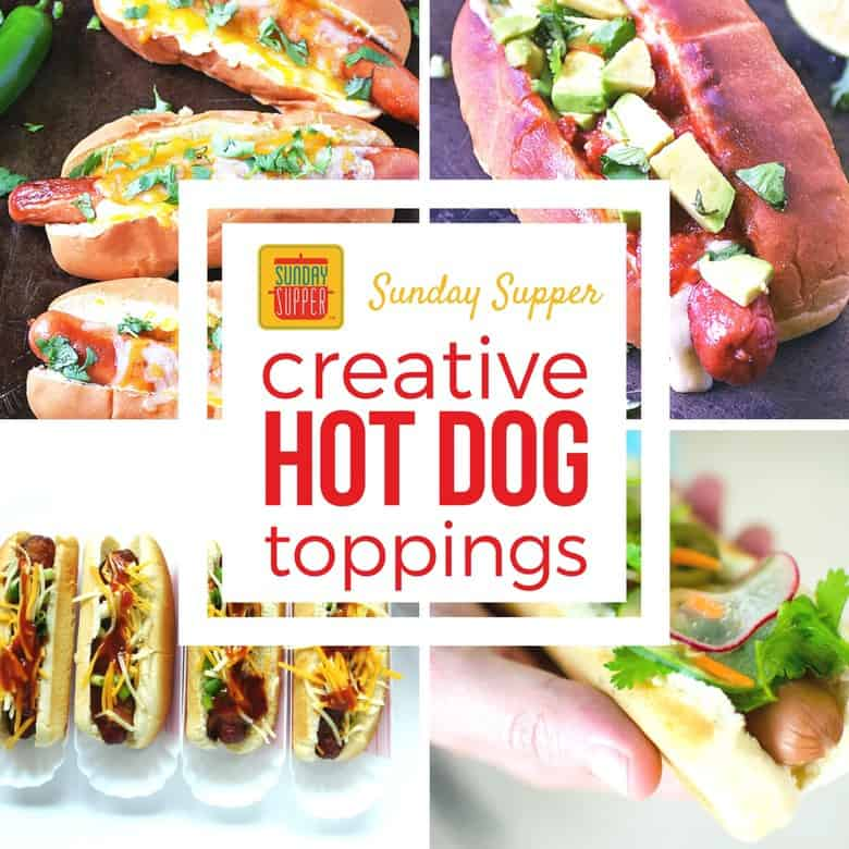 creative hot dog toppings