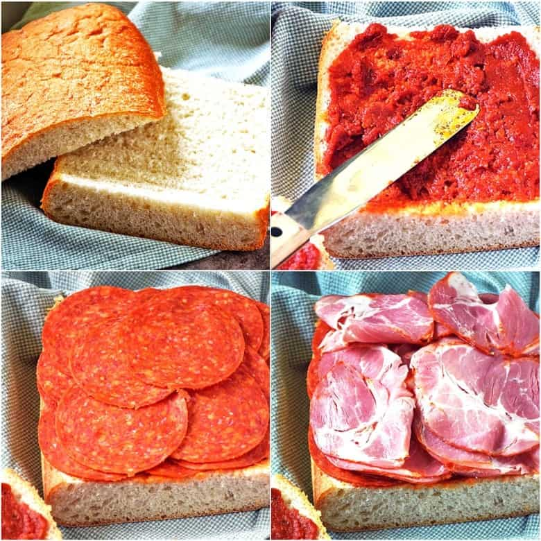 How to assemble Italian Pressed Sandwich