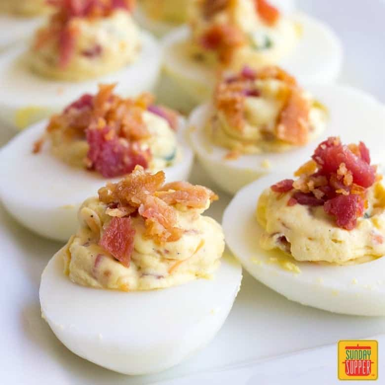 Jalapeno Popper Deviled Eggs #SundaySupper