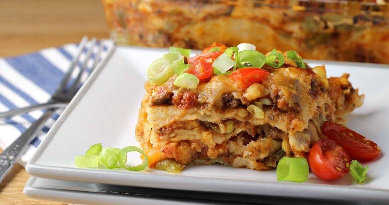 Mexican Lasagna with Tortillas