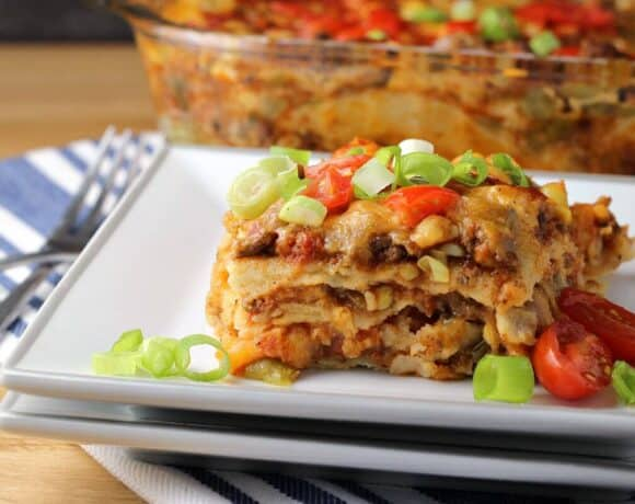 Mexican Lasagna with Tortillas