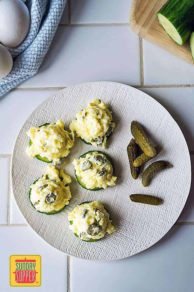 Cucumber Egg Salad Bites
