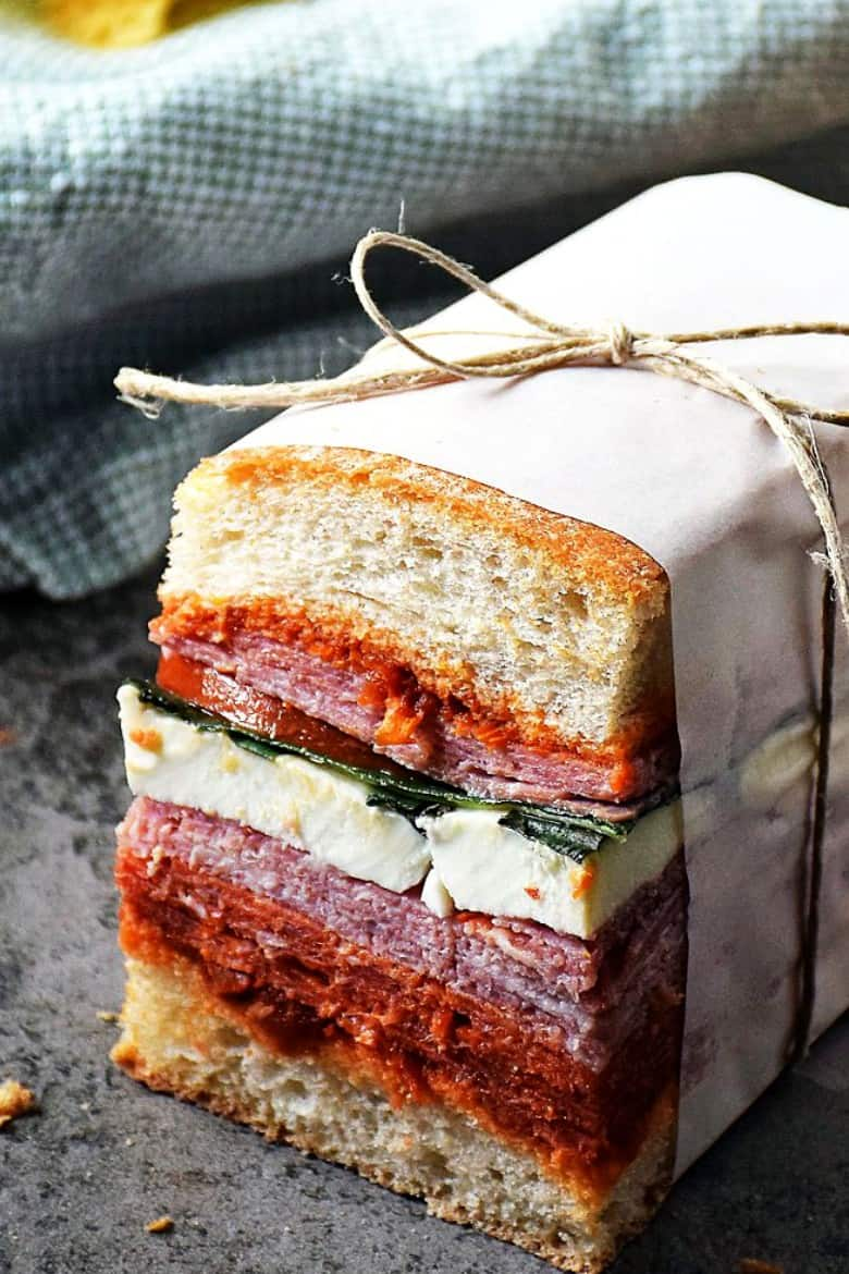 Italian pressed sandwich by Sunday Supper Movement
