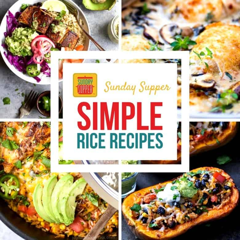 Simple Rice Recipes for Dinner #SundaySupper