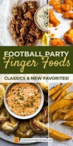 Save Football Party Finger Foods on Pinterest for Later!