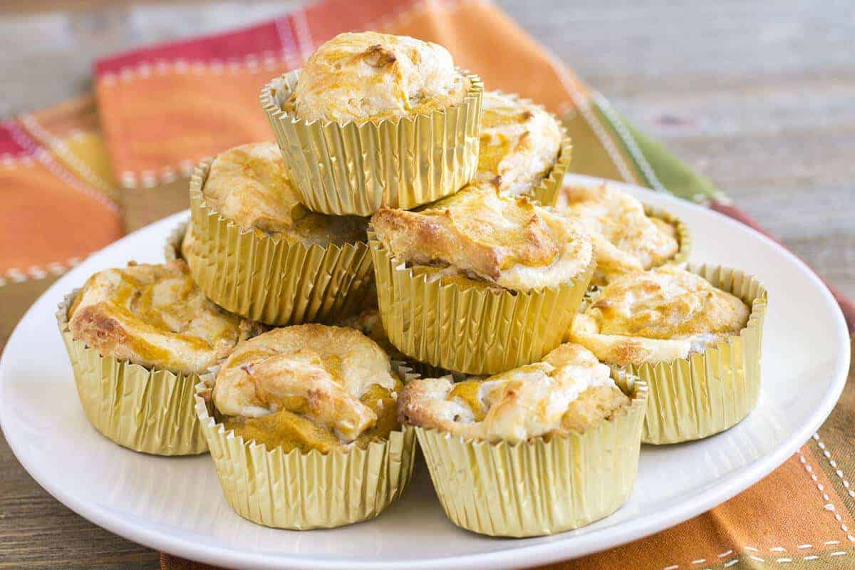 Pumpkin Cream Cheese Muffins #SundaySupper