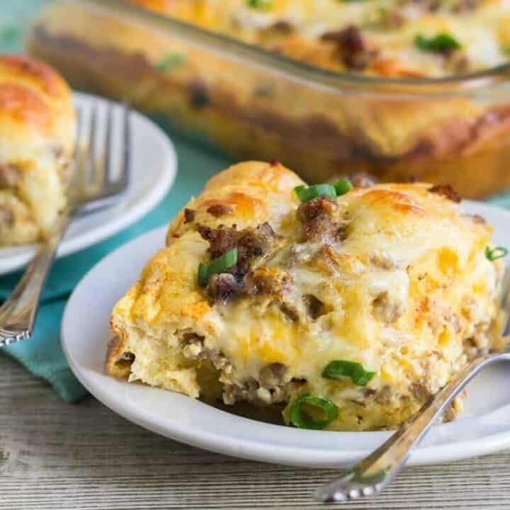 Sausage Breakfast Casserole with Crescent Rolls