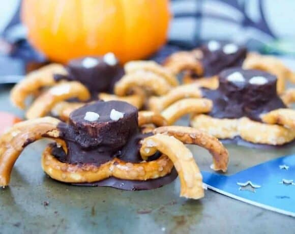 Chocolate Pretzel Spiders