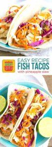 Easy Fish Taco Recipe on Pinterest