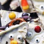 Save Halloween Chocolate Bark on Pinterest for later!