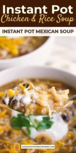 Instant Pot Mexican Chicken and Rice Soup Pin