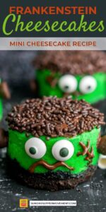 Save Halloween Mini Cheesecakes on Pinterest for Later!