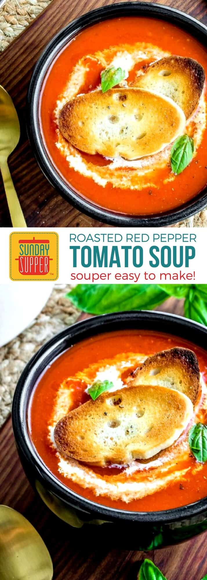 Roasted red pepper tomato soup sunday supper movement get ready for fall with our simple comfort food recipes make a big batch of forumfinder Gallery