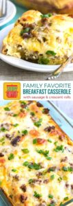 Sausage Breakfast Casserole with Crescent Rolls on Pinterest
