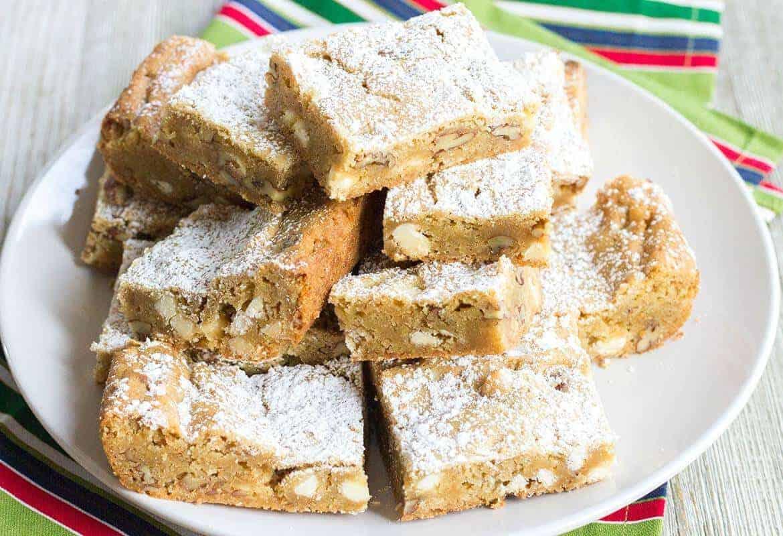 Chewy Brown Butter M&M Blondies | Recipe | Desserts ...  |Chewy Blondie Recipe