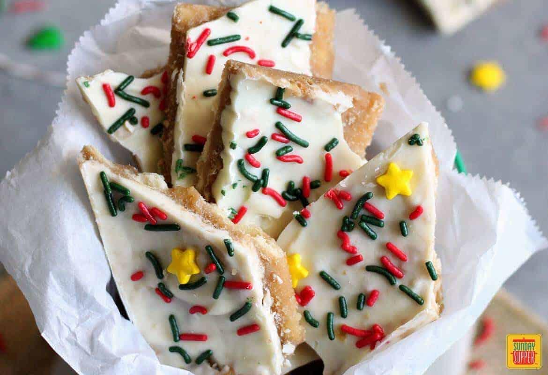 White Chocolate Christmas Crack #SundaySupper